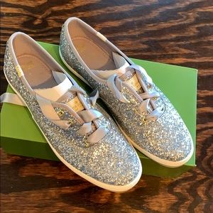 BRAND NEW Kate Spade x Keds glitter sneakers
